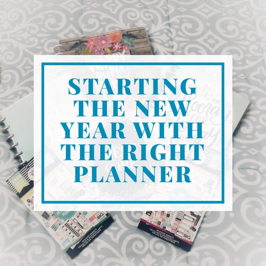 Starting the new year with the right planner