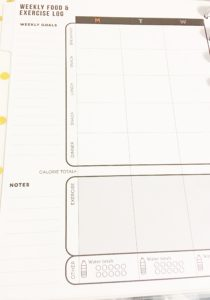Weekly Spread for the MAMBI Fitness Planner - A Stupendous Life