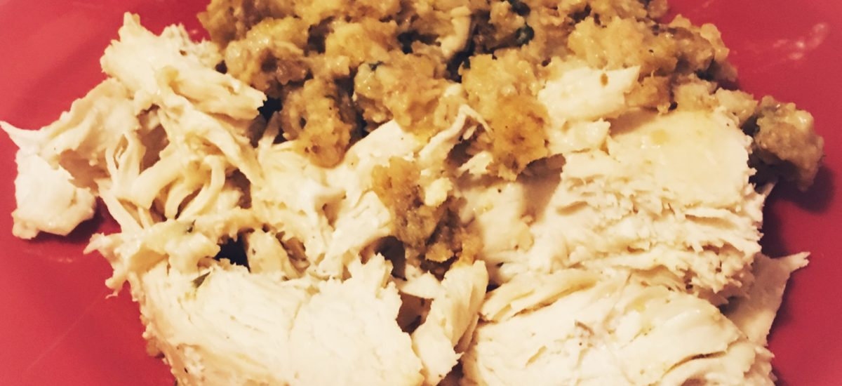 Easy 3 Ingredient Chicken & Stuffing for the Slow Cooker
